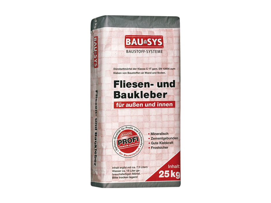 Bausys Fliesen Baukleber 25 Kg Fur Innen Und Aussen Chemische