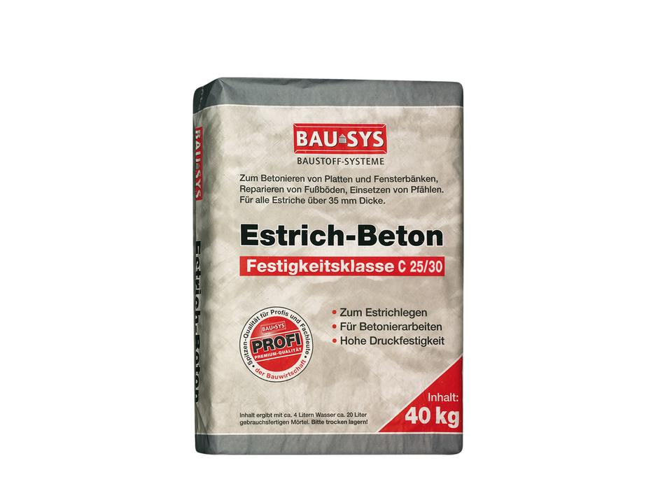 Hervorragend BAUSYS Estrichbeton C25/30 40 kg Körnung 0-8 mm ca.20 l Mörtel JQ88